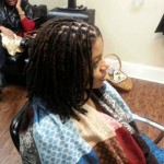 Woman's Loc Extensions Charlotte NC